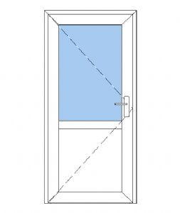 Facadedøre med sideparti